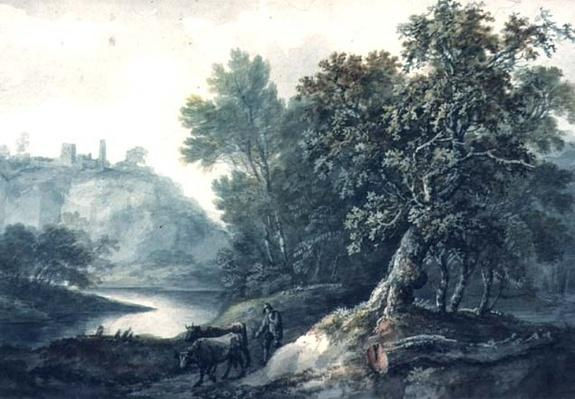 Landscape with River and Cattle