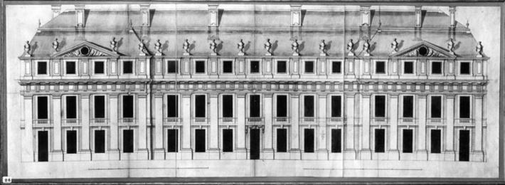 Chateau de Vincennes: Elevation of the Facade of a Corner Pavilion, 1658