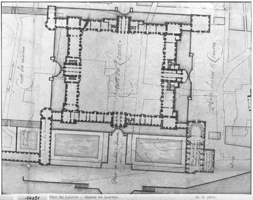 Design for the eastern buildings of the Louvre, from 'Recueil du Louvre', volume 1, fol.21