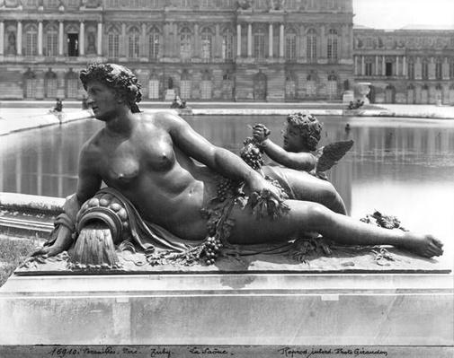 The Saone River from the Parterre d'Eau in the gardens, 1685