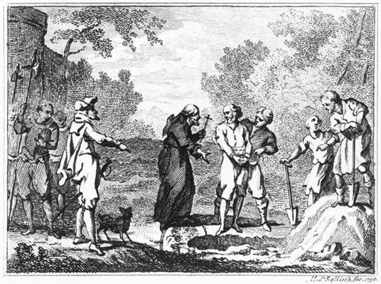 Execution of Flemish Protestants by Spanish Catholics, 1790