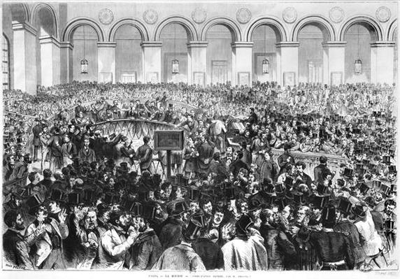 The 'Corbeille' at the Bourse of Paris, 1873