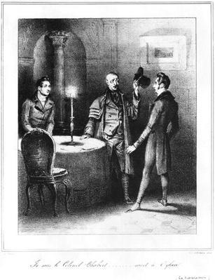 Colonel Chabert, illustration from 'Le Colonel Chabert' by Honore de Balzac