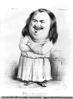 Caricature of Honore de Balzac