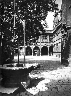 Cluny Hotel seen from the courtyard, Paris