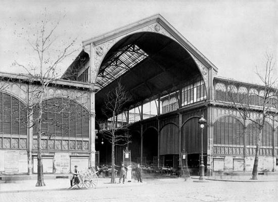 Entrance to a Pavilion of Les Halles Central Market, Paris, c.1900