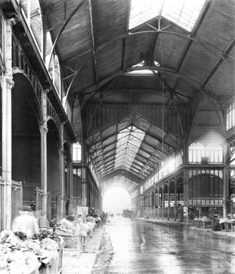A Covered Aisle of Les Halles Central Market, Paris, c.1900