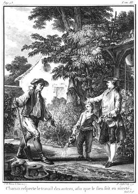 Illustration from 'L'Emile' by Jean-Jacques Rousseau