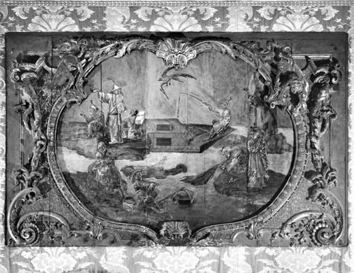 Overdoor panel with chinese subject, c.1730