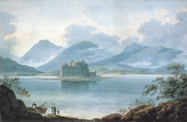 View across Loch Awe, Argyllshire, to Kilchurn Castle and the Mountains beyond
