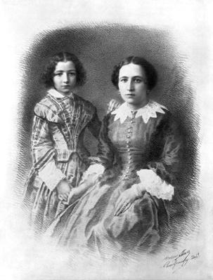 Sarah Bernhardt and her mother?