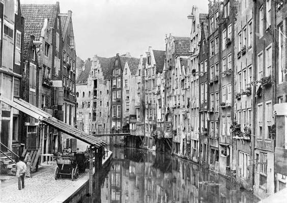 Achterburgwal, Amsterdam, early 20th century