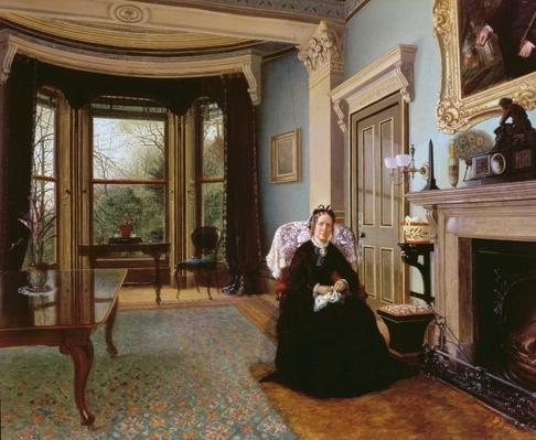 Victorian interior with seated lady