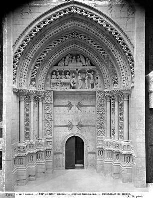 Reproduction of the facade portal of St. John the Baptist at Rouen Cathedral