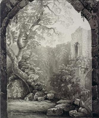 Cliffords Tower, York, Interior, 1827