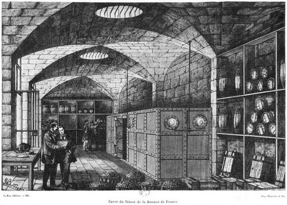 Basement of the Bank of France in Paris, 1897