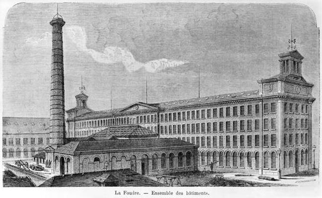 'La Foudre' cotton mill, illustration from 'Les Grandes Usines' by Julien Turgan, engraved by Edward Etherington