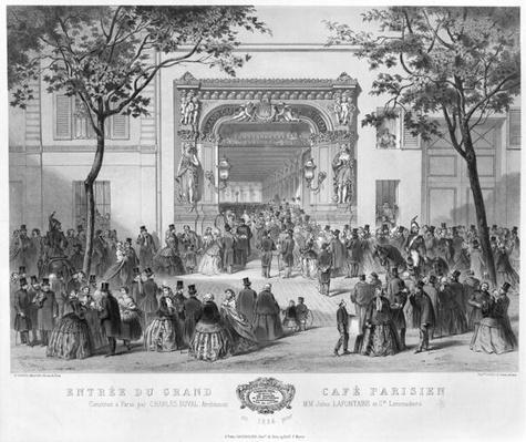 Entrance to the 'Grand Cafe Parisien', Paris, 1856