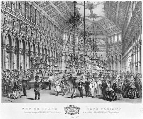 Interior of the 'Grand Cafe Parisien', Paris, 1856