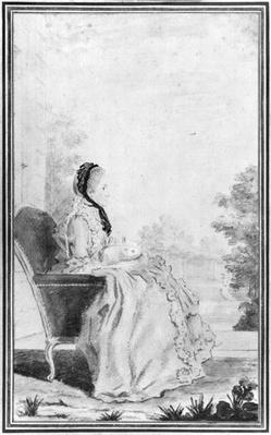 Portrait of Madame du Deffand, 1760