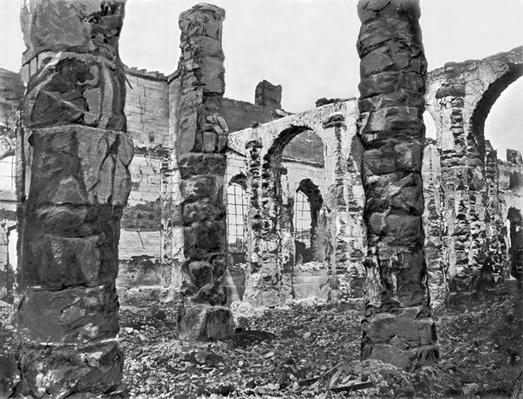 Ruins of the Storehouse during the Commune of Paris, 1871