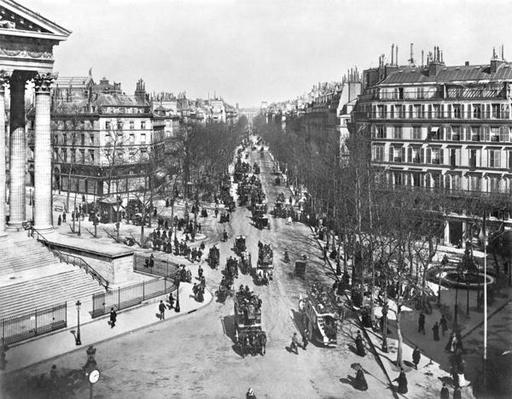 General view of the Place de la Madeleine, late 19th century