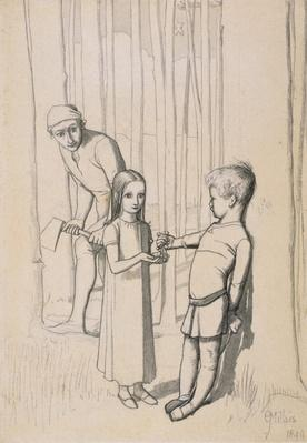 Study for 'The Woodman's Daughter', 1849