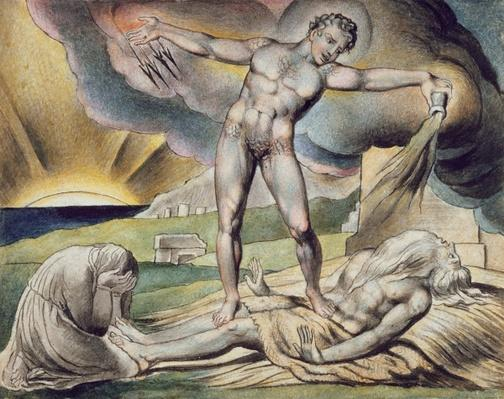 Satan smiting Job with Boils, page 6 from 'Illustrations of the Book of Job', after William Blake