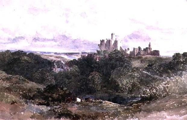 Warkworth Castle, Northumberland, 19th century
