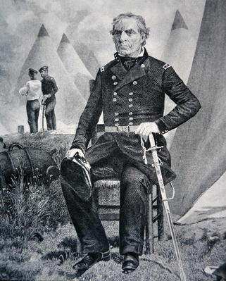 Zachary Taylor (engraving) by American School, (19th century)