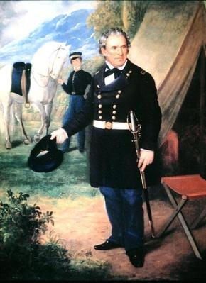 Zachary Taylor (colour litho) by American School, (19th century)