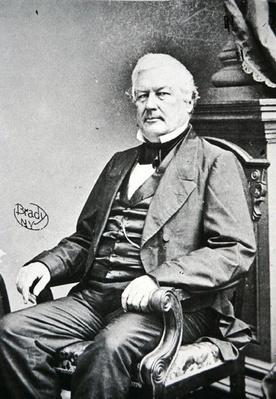 Millard Fillmore (1800-74) (b/w photo) by American Photographer, (19th century)