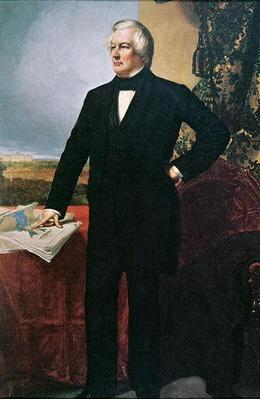Millard Fillmore (1800-74) (colour litho) by Healy, George Peter Alexander (1808-94) (after)