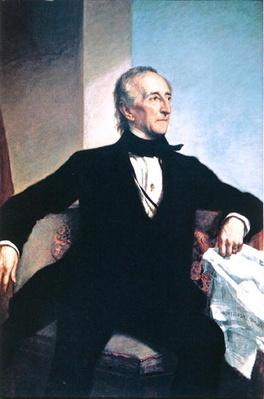 John Tyler (1790-1862) (colour litho) by Healy, George Peter Alexander (1808-94) (after)