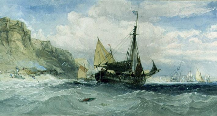 Fishing Boats off the Isle of Wight