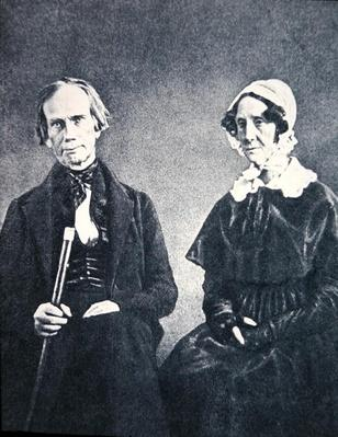 Henry Clay (1777-1852) and his wife Lucretia (b/w photo) by American Photographer, (19th century)