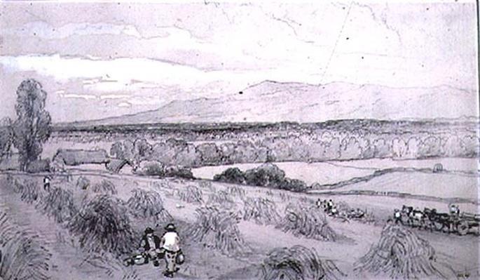 Harvest Scene, 19th century