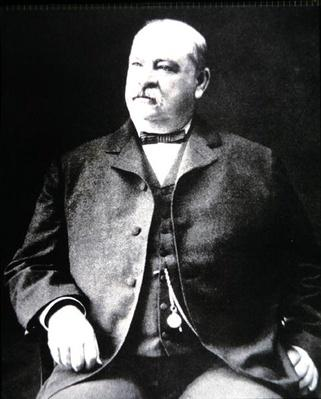 Grover Cleveland (1837-1908) (b/w photo) by American Photographer, (19th century)