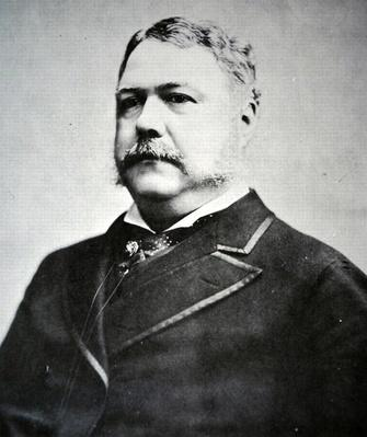 President Chester A. Arthur (1829-86) (b/w photo) by American Photographer, (19th century)