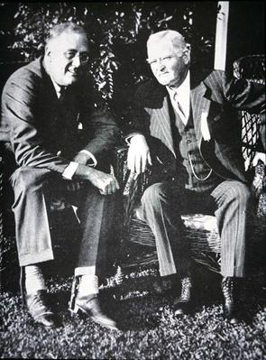 Franklin D. Roosevelt with Vice President John Garner, 1932 (b/w photo) by American Photographer, (20th century)