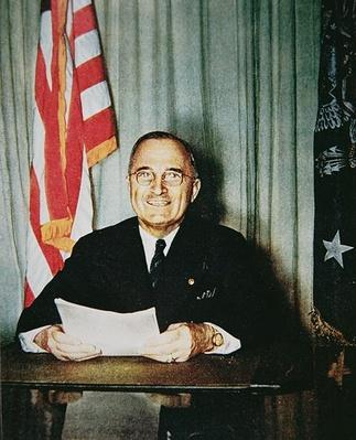 President Harry S. Truman at his desk, c.1948 (photo) by American Photographer, (20th century)