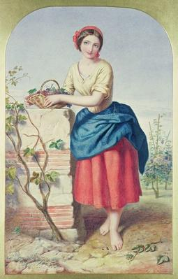 Girl with Basket of Grapes, 1860