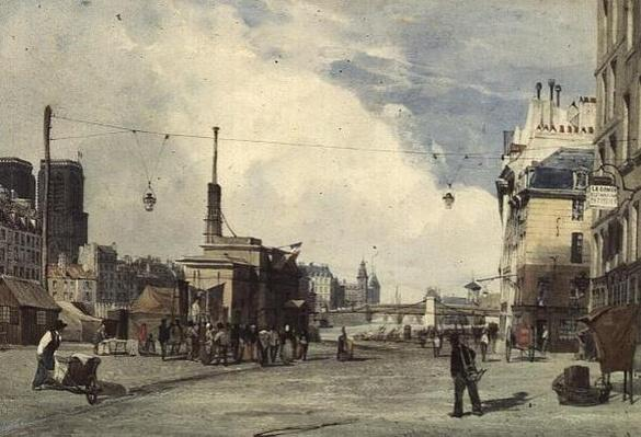 Quai de la Greve, Paris, in 1837