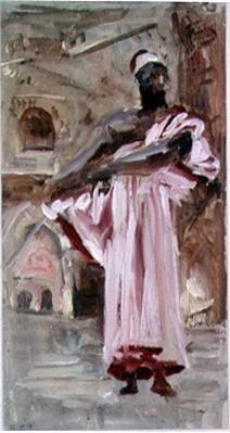 A Moor in a Crimson-edged Robe