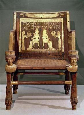 Chair belonging to Princess Satamun, daughter of Amenophis III, New Kingdom, c.1391-1353 BC