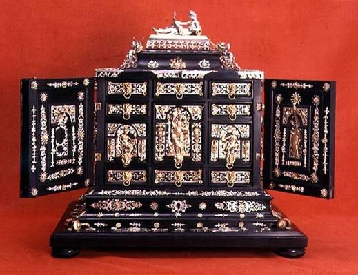 Cabinet, with silver-gilt mounts, German, c.1600