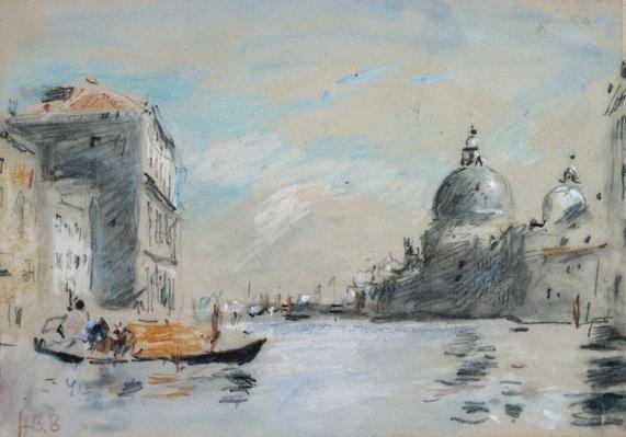 The Grand Canal and Church of Santa Maria della Salute, Venice
