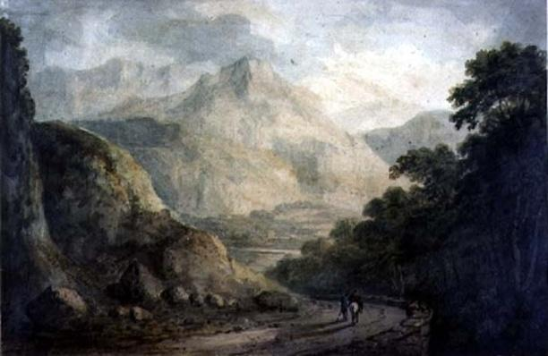 Landscape: A Rocky Stream with Wooded Banks, 19th century