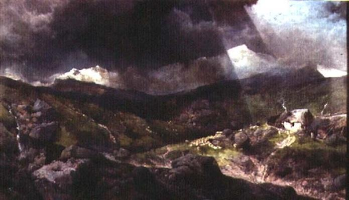 Welsh Mountain Scene