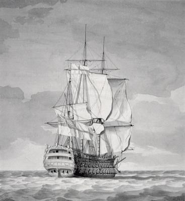 English Line-of-Battle Ship, 18th century